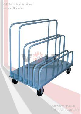 Empty Cartoon Storage Trolley