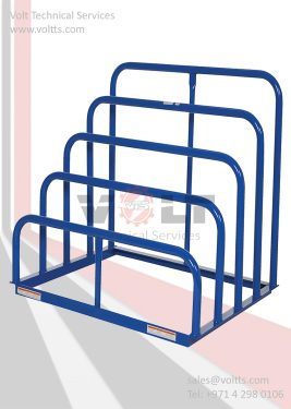 Empty Cartoon& Metal Sheet Rack